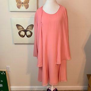 Eileen Fisher | pink silk dress 2 piece Large